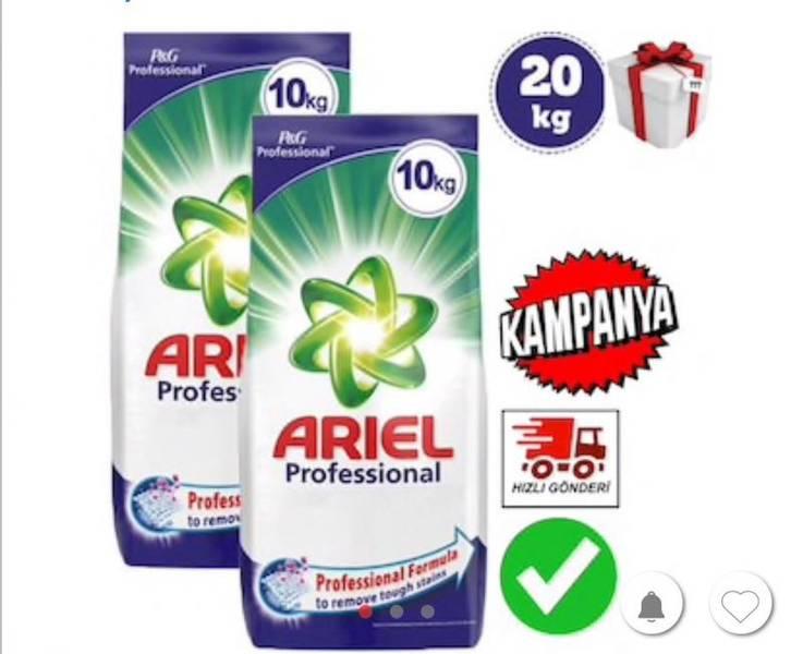 Ariel Professional Toz Deterjan 10+10 Kg