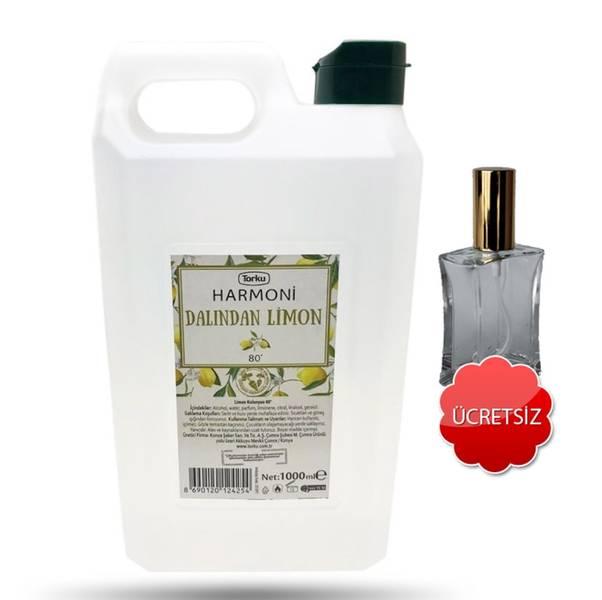Torku  80 Derece Harmoni  Limon Kolonya 1Lt 1 Litre 1000 Ml - Hediyeli