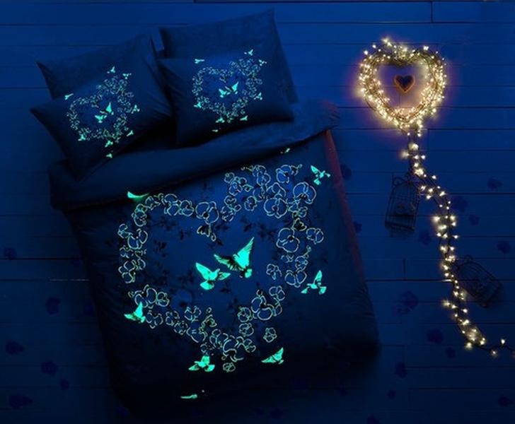 Taç Orkide Glow İn Dark Çift Kişilik Nevresim Takımı