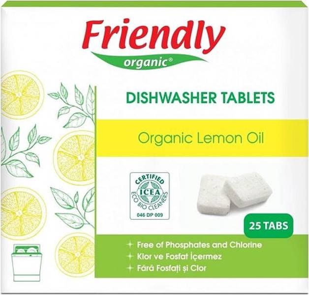Friendly Organik Limonlu Bulaşık Makinesi Deterjanı 25 Tablet