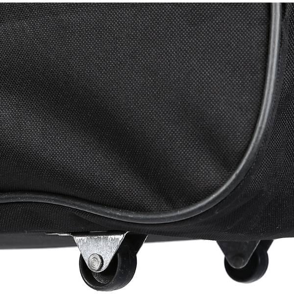 Bagacar Orta Boy Tekerlekli Siyah Valiz Seyahat Çantası 70Cm