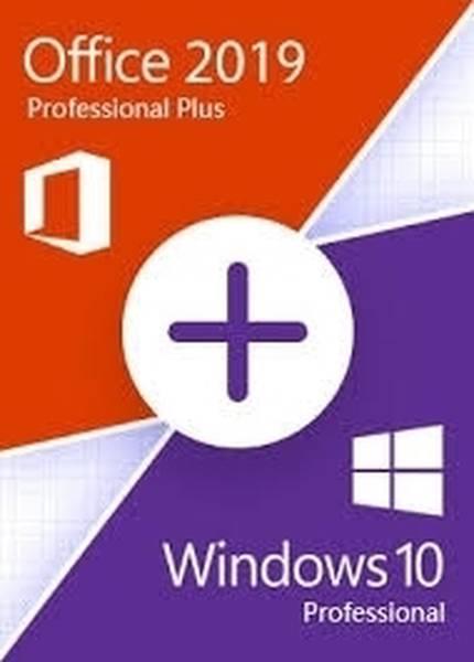 Windows 10 Pro + Office 2019 Pro Plus Lisans Anahtarları (2 Li Paket)