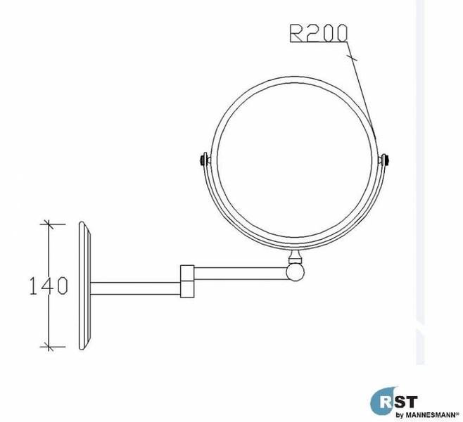 RST® MANNESMANN Mafsallı Makyaj Aynası - 304 Kalite fiyatı