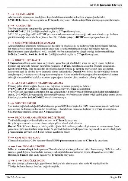GTD-17 Gsm / Telefon Arama Modülü Alarm Sistemleri Aksesuarları
