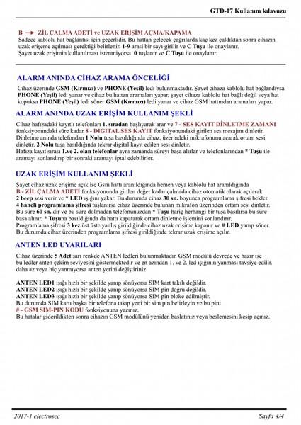 GTD-17 Gsm / Telefon Arama Modülü fiyatları