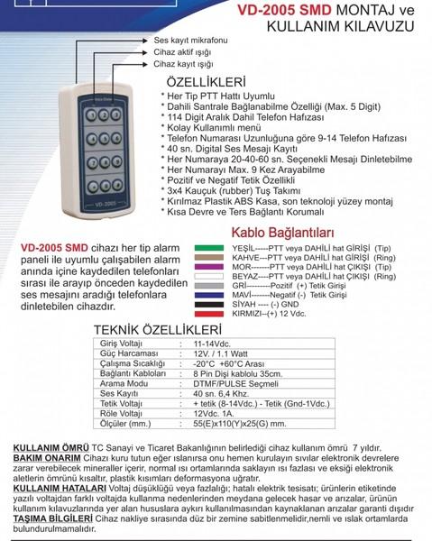 VD-2005 SMD Telefon Arama Modülü Her Tip Alarm Paneli İle Çalışır fiyatı