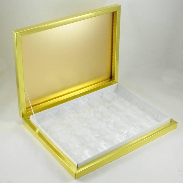 24 Bölmeli Madlen Çikolata Kutusu Gold (Altın) Renkli fiyatı