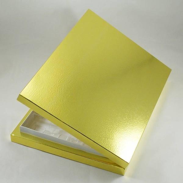 24 Bölmeli Madlen Çikolata Kutusu Gold (Altın) Renkli fiyatları