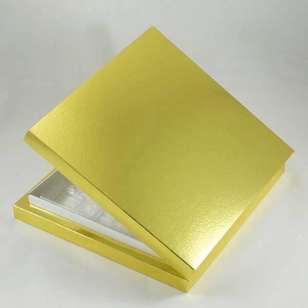 16 Bölmeli Madlen Çikolata Kutusu Gold (altın) Renkli fiyatları