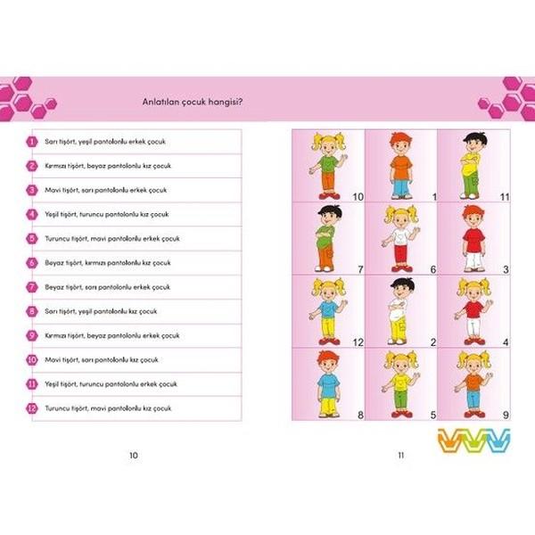 Bee Smart Görsel Ve İşitsel Dikkati Güçlendirme Seti 5-6 Yaş Oyun Seti