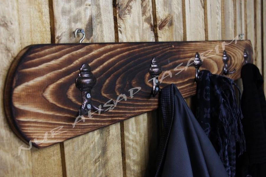 Ahşap Duvar Askılığı Vestiyer 5Li fiyatı
