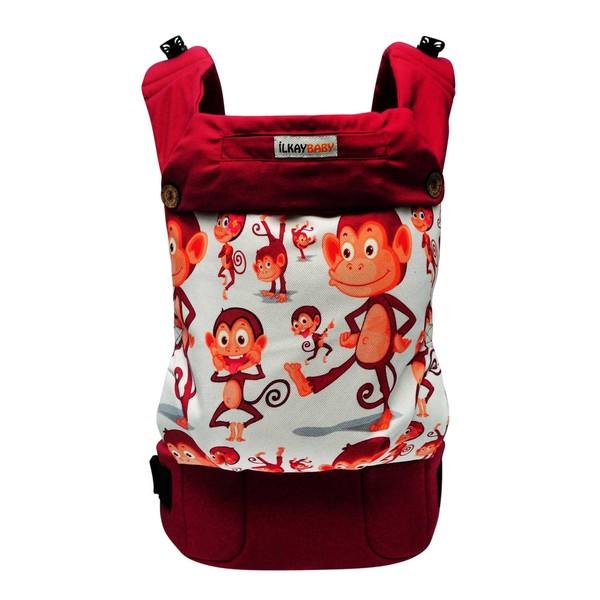 İlkaybaby Ergonomik Kanguru Handy - Şımarık Maymunlar (3Ay-4Yaş) Kanguru
