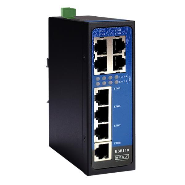 Redz Bsb118 8 X 10 / 100Base-T (X) Bağlantı Noktalı Endüstriyel Y