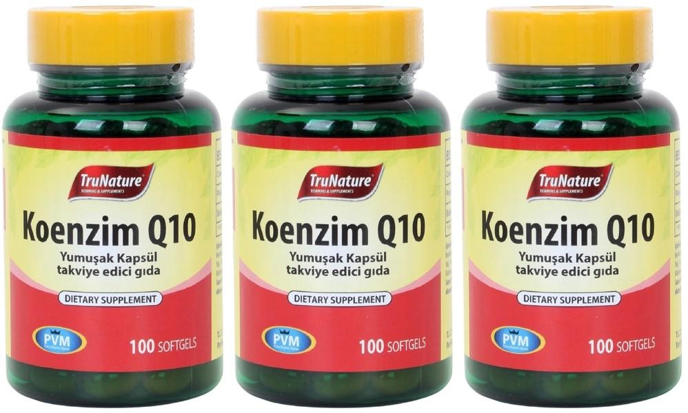 Trunature Coenzyme Q10 Royal Jelly Omega 3 3X100 Softgel Koenzim