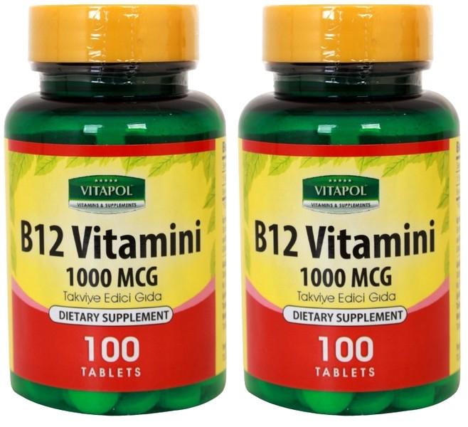 Vitapol Vitamin B12 2X100 Tablet B12 Vitamini Skt Şubat 2024