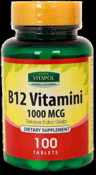 Vitapol Vitamin B12 2X100 Tablet B12 Vitamini Skt Şubat 2024 fiyatı