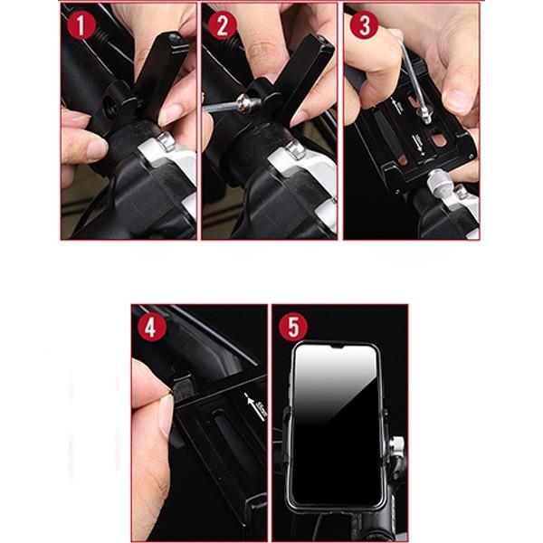 Ally Kr01 Bısıklet Motorsıklet Gıdon Telefon Tutucu,metal Vıdalı en uygun