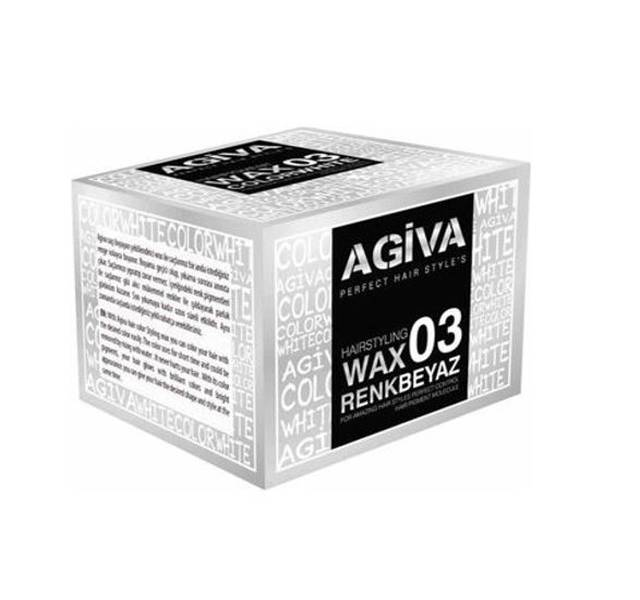 Agiva Hairstyling Color 03 Wax Beyaz 120 G