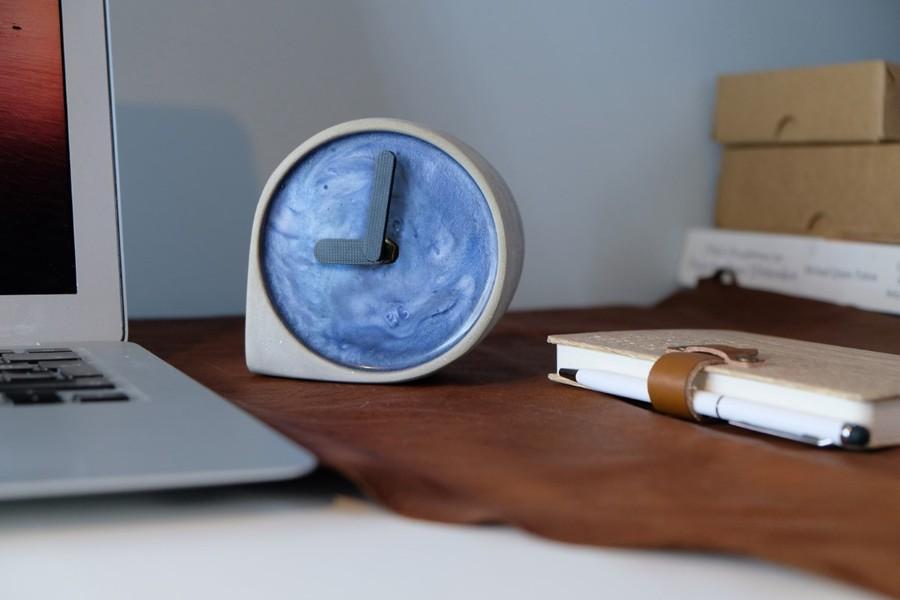 Beton damla saat - Pekala Tasarım özellikleri
