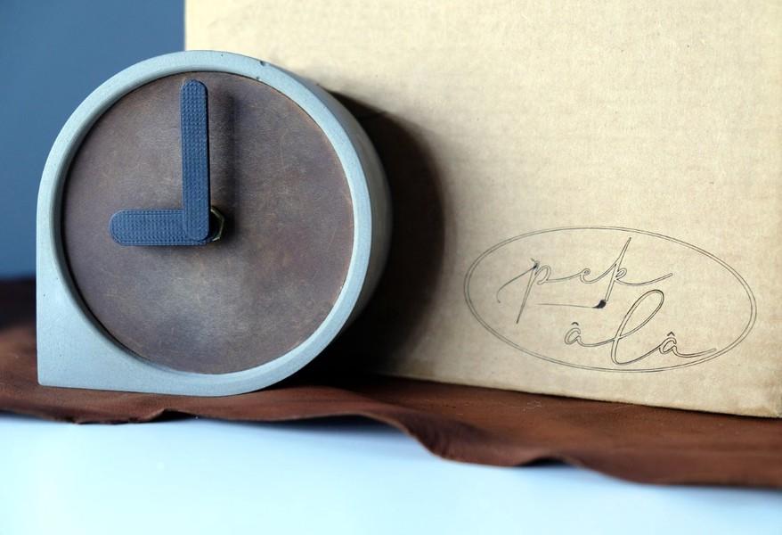 Beton damla saat - Pekala Tasarım Eğlenceli Ürünler