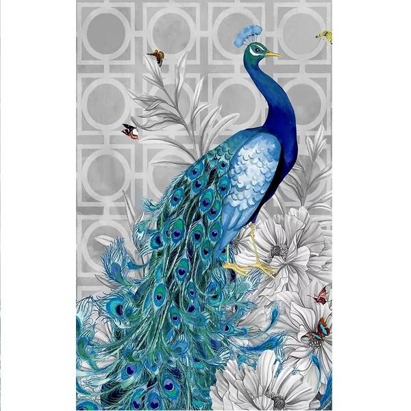 5D Elmas Boyama Tavus Kuşu Diamond Painting Kit Mozaik Tuval Seti
