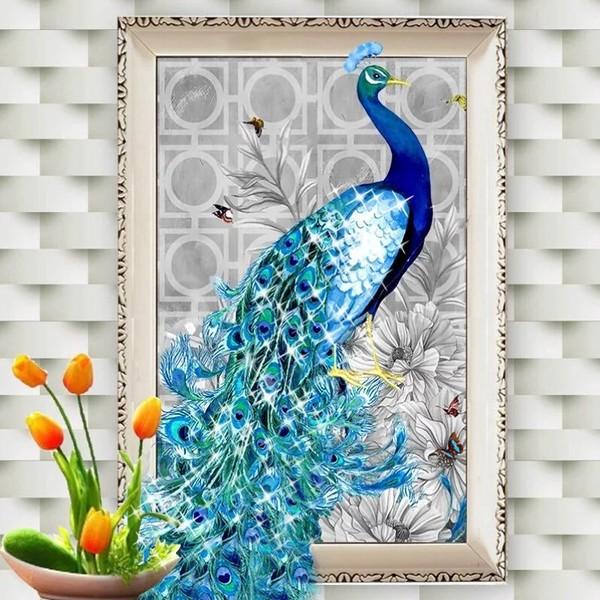5D Elmas Boyama Tavus Kuşu Diamond Painting Kit Mozaik Tuval Seti fiyatı