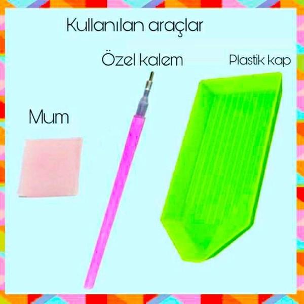 5D Elmas Boyama Tavus Kuşu Diamond Painting Kit Mozaik Tuval Seti özellikleri