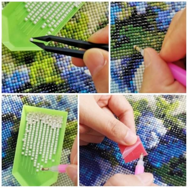 5D Elmas Boyama Tavus Kuşu Diamond Painting Kit Mozaik Tuval Seti Tuval